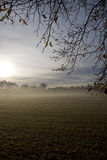 Foggy sunrise Royalty Free Stock Photography