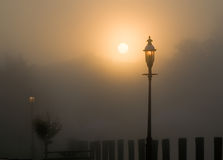 Foggy Sunrise Stock Image