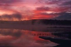 foggy sunrise Στοκ φωτογραφία με δικαίωμα ελεύθερης χρήσης