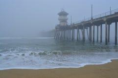 Foggy Sunrise. An image of foggy sunrise over the ocean stock photography