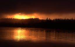 Foggy Sunrise royalty free stock photography