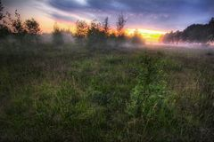 Foggy sunset-2 Royalty Free Stock Photo
