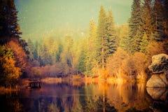 Free Foggy Sunset At The Lake Stock Photos - 49641683