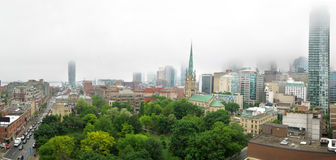 Foggy Toronto Royalty Free Stock Photos