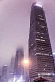 Foggy Towers at Night Stock Photography