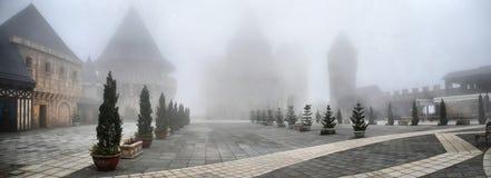 Foggy town Stock Photo