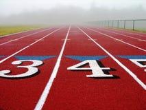 Foggy track Stock Image