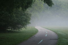 Foggy Trail Royalty Free Stock Photo