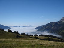 Foggy Valley Stock Photography