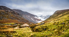 Foggy Valley. Fog in Glendalough, County Wicklow, Ireland Royalty Free Stock Image