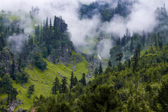 Foggy valley. Monsoon on the way to Rohtang Royalty Free Stock Images