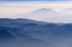 Foggy View From Mountains Royalty Free Stock Photo
