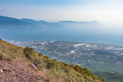Foggy view of gulf of Naples Stock Image