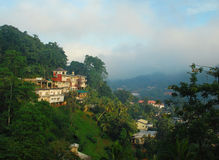 Foggy View of the Town of Kandy in Sri Lanka Royalty Free Stock Images