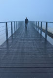 Foggy walk Royalty Free Stock Photos
