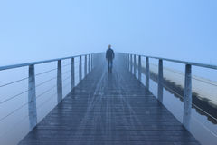 Foggy walk Stock Image