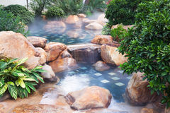 Foggy water pool feature royalty free stock photos