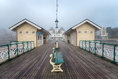Foggy Weather at Penarth Pier. A foggy day at Penarth Pier at Cardiff on the south coast of Wales royalty free stock photography
