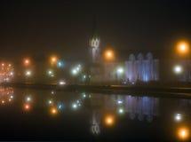 Foggy weather in Reykjavik Royalty Free Stock Image