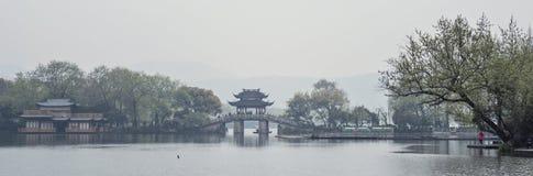 Foggy West Lake, Hangzhou, China Stock Photography
