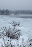 Foggy Winter Landscape Royalty Free Stock Images