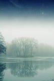 Foggy winter morning. Stock Photos