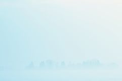 Foggy winter scenery Stock Images