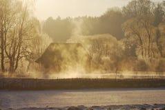 Foggy winter scenic Stock Photos