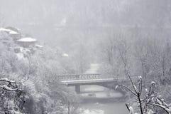 Foggy Winter in Veliko Tarnovo Stock Image