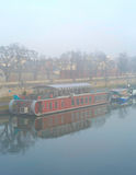 Foggy Wistula river. krakow, Poland Royalty Free Stock Image