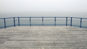 Foggy wooden deck Stock Photography