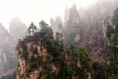 Foggy Zhangjiajie Royalty Free Stock Photo