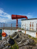 Foghorn of Ardnamurchan Lighthouse Royalty Free Stock Photo