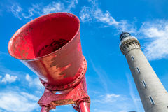 Foghorn of Ardnamurchan Lighthouse Stock Images