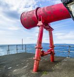 Foghorn of Ardnamurchan Lighthouse. Scotland, United Kingdom Stock Photo