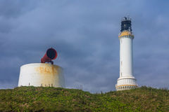 Foghorn and Lighthouse Royalty Free Stock Images