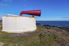 Foghorn on the Lighthouse on Isle of Man Stock Photos