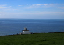 Foghorn Station at St Bees, Cumbria, Great Britain Royalty Free Stock Photo