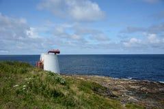 Foghorn wskazuje out morze Obrazy Stock