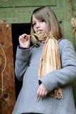 Fogli bianchi di rappresentazione del bambino Fotografia Stock