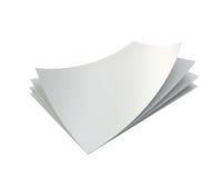 Fogli bianchi vuoti della pila di carta A4 Immagine Stock Libera da Diritti