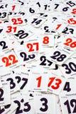 Fogli del calendario fotografia stock libera da diritti