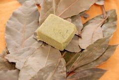 Fogli del cubo e dell'alloro del condimento Immagini Stock