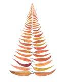 Fogli dell'albero di Natale immagini stock