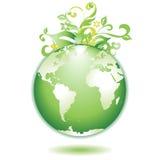 Fogli della terra verde Fotografia Stock Libera da Diritti
