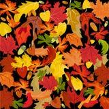 Fogli di autunno, priorità bassa di vettore Illustrazione Vettoriale