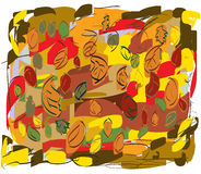 Fogli di autunno in tutti i colori Fotografia Stock