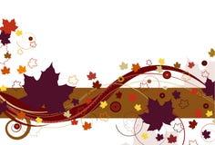 fogli di autunno viola Fotografia Stock