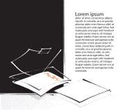 Fogli di carta in bianco, impaginazione illustrazione vettoriale