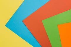 fogli di carta colorati Fotografia Stock Libera da Diritti